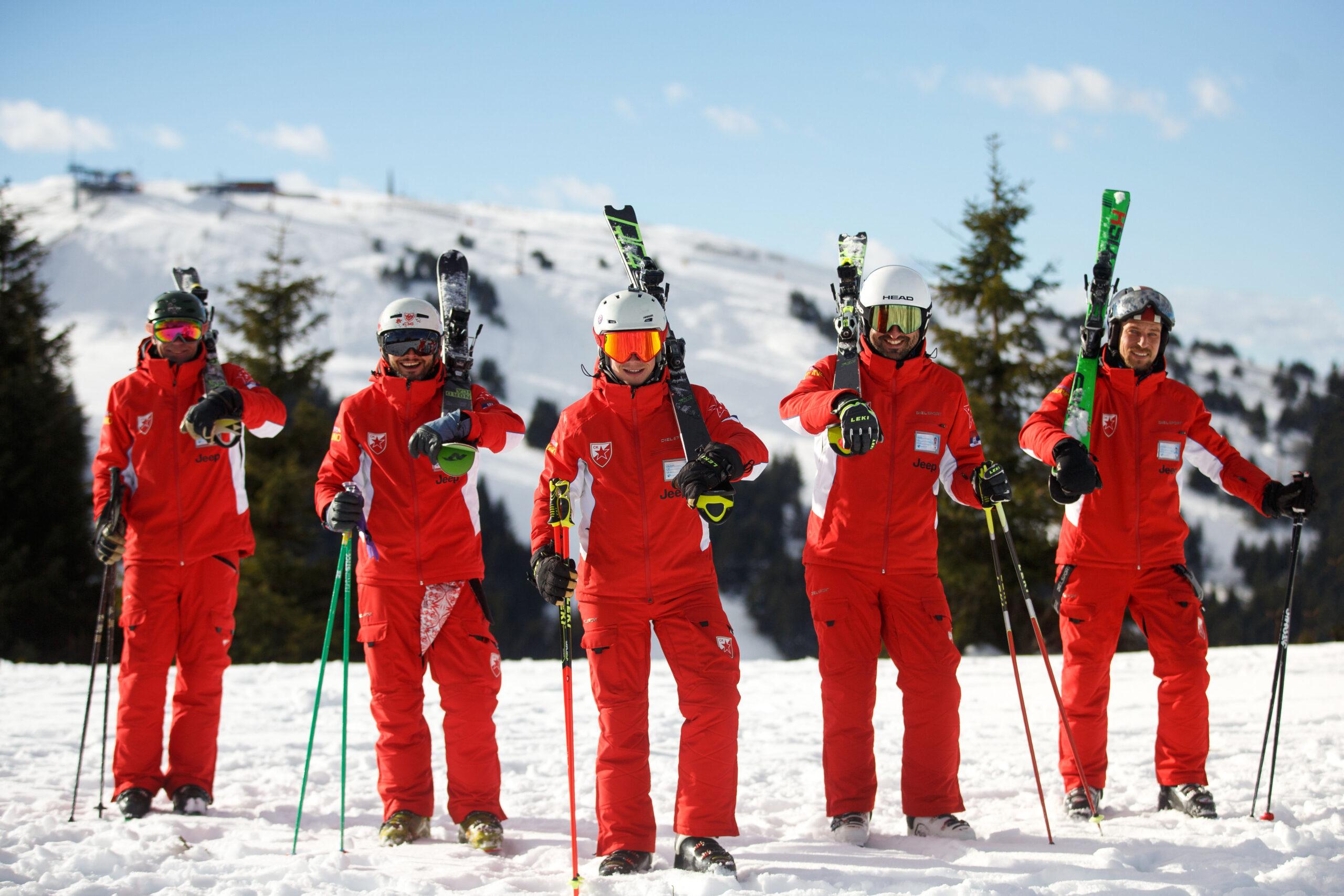 Insturktorski tim ski skole na Kopaoniku Crvena zvezda